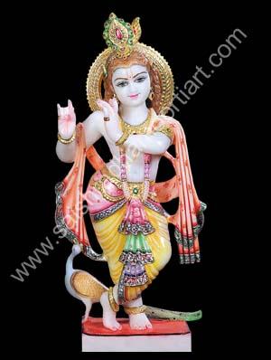 Marble Lord Krishna Statue Saishradhamoortiart Com